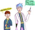 Rick and Morty [Fallout] by PunkAlien