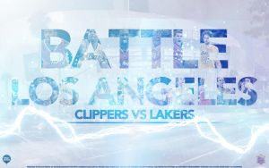 Lakers vs Clippers Battle LA Wallpaper by IshaanMishra
