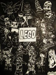 LEGO Characters Collage by Geckogirl315