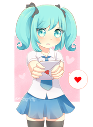 [OC]: Will you accept my love letter, senpai? by FluffyQueenz