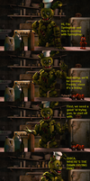 [FnaF Comic] Cooking with Springtrap by Teetheyhatty
