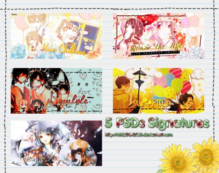 [060114]PSD PACK 5 Signatures DrawTheColorfulLife by Nhi25092001