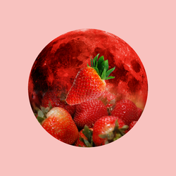 12 Full Moons 2018 - June - Strawberry Moon by Loupii