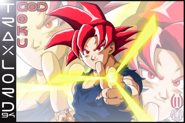 Goku SSG (Card) by TraxLord94