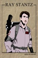 Ray Stantz trading Card design - Ghostbusters by markwilson85