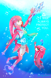 I will always protect you! - FANART by Eiveon