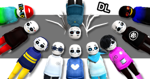 [MMD] Baby Bones Sans DL by NightSugar