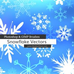 Snowflake Vectors Photoshop and GIMP Brushes by redheadstock