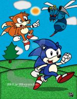Sonic : Buzzbomber Attack! by SlySonic