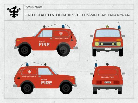 SBRODJ SPACE CENTER - FIRE RESCUE LADA NIVA by droneaircraftconcept
