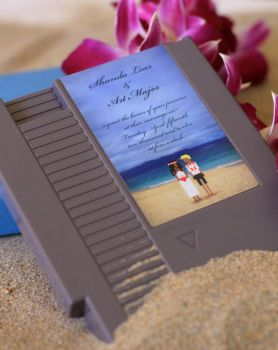8-Bit Beach Wedding by pacalin
