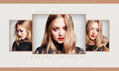 Amanda Seyfried // PNG pack by victorialoey