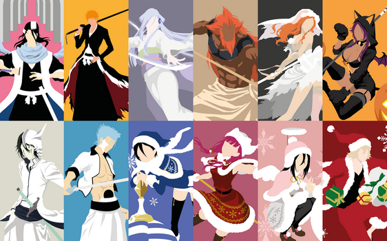2017 Collage Wallpaper (Bleach) by Dingier