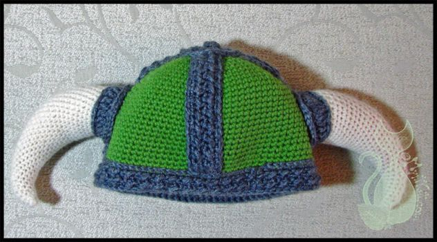 Green Viking Hat by MyntKat