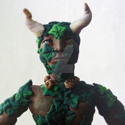 Green Man - detail by archaetypes