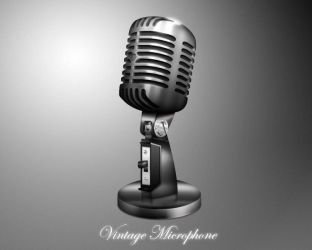 Vintage Microphone icon by MDGraphs