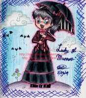 Lady Of Manners Colored. by inugirliscrazy