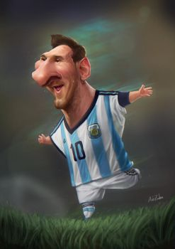 Messi Caricature by AZendron