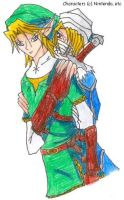 Link x Sheik for YRE by SamCyberCat