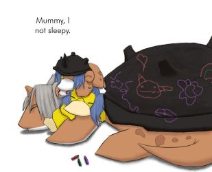 Nap Time for Saipras's Family by ladychimera