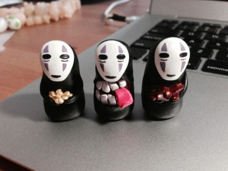 No Face Trio by lonelysouthpaw