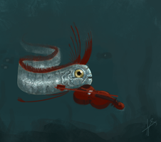 Oarfish playing a violin by Farefarren