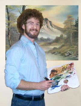 Me as Bob Ross by andrewchandler80