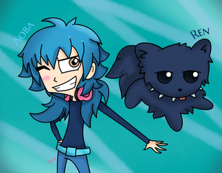 Aoba and Ren in IZ style by Miikage