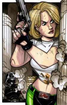 Danger Girl - Abbey Chase (in Technicolor) by NicolasRGiacondino