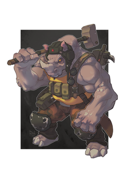 TMNT Rocksteady by AlexRedfish