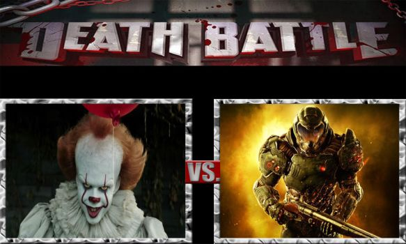 Death Battle Ideas 229 Pennywise Vs Doomguy by kouliousis