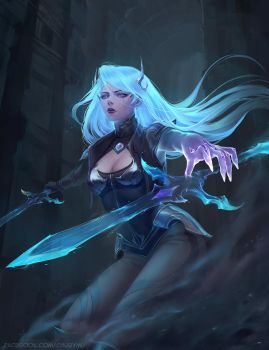 Death Sworn Katarina Skin League of Legends by ChubyMi