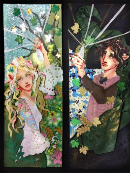 Galadriel and Frodo bookmarks by sassynails