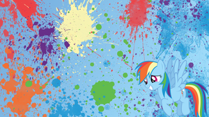 Rainbow Dash Splatter Wallpaper by brightrai