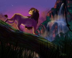 Evening in the jungle by Fallen-Beast