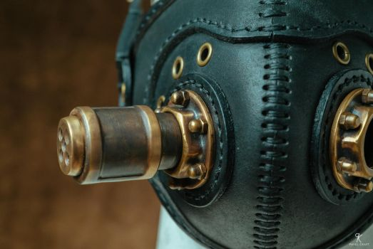 Leather Respirator Steampunk Post apocalyptic by Pavelcraft