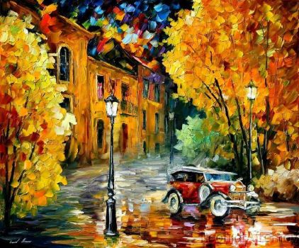 Town by Leonid Afremov by Leonidafremov