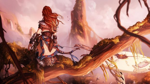 Aloy: Horizon Zero Dawn by KalaSketch