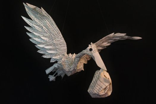 Stork Book Sculpture Mobile by wetcanvas