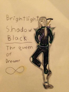 Brightlight shadow black, the queen of dreams by Mezzoak1876