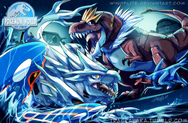 Jurassic Pokemon World by WindFlite