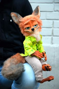 Nick Wilde the Fox from Zootopia by monkeybusinesstoys
