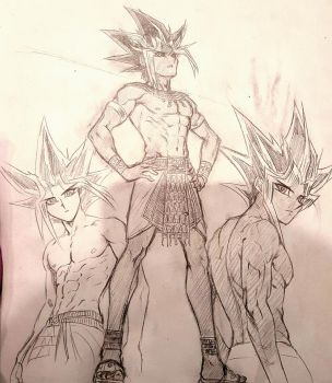 Pharaoh Atem Sketches by Ycajal