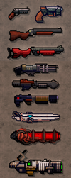 Pixel guns! (from miniDoom 2) by evilself