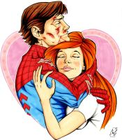 Peter and Mj - A true Love by Spidertof