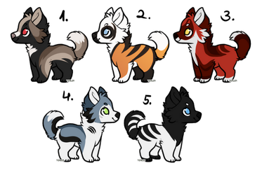 [CLOSED ADOPTABLES] - More Puppers by NorthernUrsus