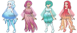 Adoptables - Jellyfish Girls [OPEN] by Illusion-Noire