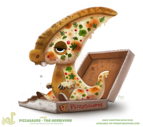 Daily Paint 1763# Pizzasaurus - The Herbivore by Cryptid-Creations