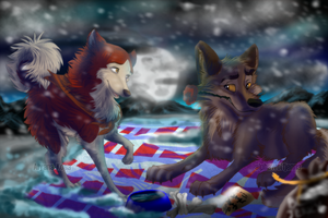 Happy Anniversary~ Collab with Balto-and-Jenna by AgentWhiteHawk