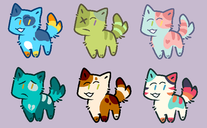 Cat Adoptables 3/6 OPEN by doggie31